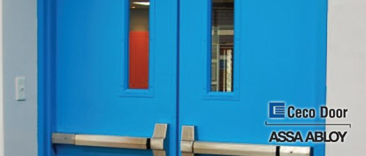 Ceco Doors Now with Factory Installed Glass & Steel and Hollow Metal Doors Frames - Ceco - Sound Doors with Glass